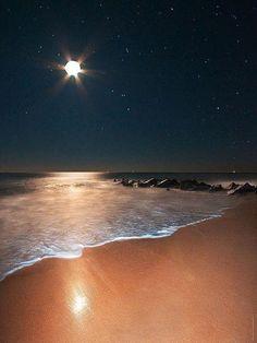 Moon Shine over the Ocean