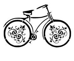 11.7/16.5  vintage bicycle stencil 3. A3 por LoveStencil en Etsy