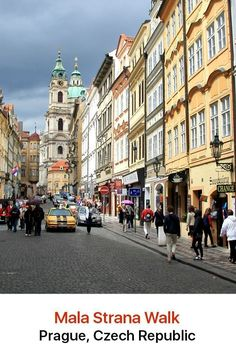 The area of Mala Strana in Prague is a pure visual delight with its old churches, palaces and beautiful gardens. Wind your way down cobblestone side streets and admire the decorated façades of some of the buildings.