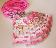Aristocats Party VIP badges or party invitations