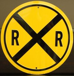 Railroad Crossing Sign | Tin Sign | Train Decor | A Simpler Time | A Simpler Time