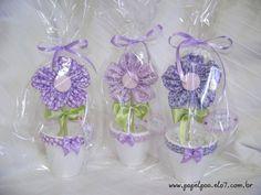 Vasinho - Flor de tecido