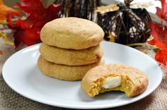 Pumpkin Snickerdoodles with Cheesecake Filling Recipe on Yummly