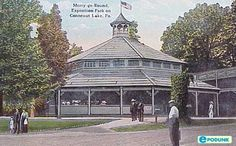 This is the second merry-go-round built at Exposition Park, and it's still there today.