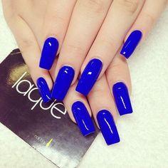 Royal blue square nails #laque #laquenailbar #getlaqued by laquenailbar ift.tt/VbAh93