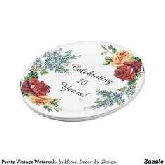 Red Rose w/Black Wavy Lines Paper Plate | Paper Plates and Napkins ...