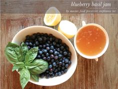 Blueberry Basil Jam (suggestion on blog was to mix with some balsamic vinegar to make a dressing or marinade)