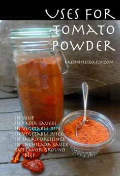 Tomato Powder: How to Make & Use Powder from Dried Tomatoes | Fresh Bites Daily