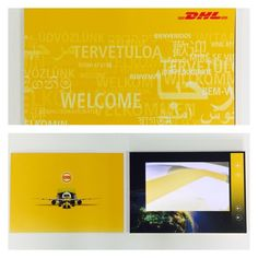 Discover our small and compact screen VideoPak in classic DHL yellow. DHL designed the pack to communicate training and instructional videos with their team A5, Compact, Packing, Training, Yellow, Videos, Classic, Design, Bag Packaging