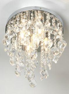 Bathroom Lights Debenhams litecraft saturn 6 light smoke grey flush ceiling light- at