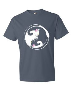Yin Yang Cats Short Sleeve T-shirt