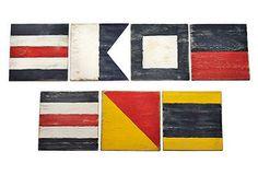 "Captain's Quarters | One Kings Lane Flags say ""Cape Cod"""