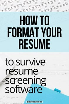 Job search tips to help you pass resume screening. Your resume format can make or break your job search if employers are using applicant tracking systems - ATS. Here are the resume formatting tips you need to know to get past the screening software. #resumeformat #jobs #careerchoiceguide Resume Layout, Resume Format, Resume Writing, Resume Design, Cover Letter Tips, Writing A Cover Letter, Cover Letters, Career Choices, Career Advice