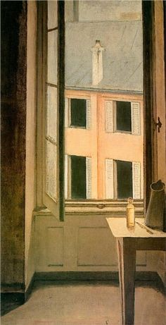 a nice reminder that you don't need a big view to paint what you see from your window: Window, Cour de Rohan -1951. Balthus.