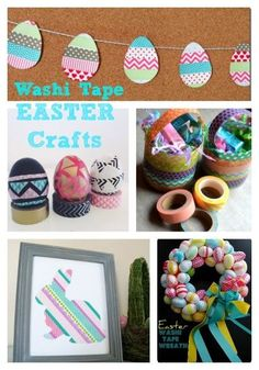 You're never to old to do crafts... Check out these fun washi tape Easter crafts that both you and your tween will love!
