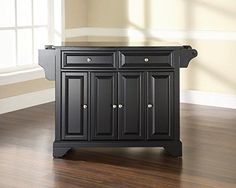 Crosley Furniture LaFayette Solid Black Granite Top Kitchen Island in Black Finish ** You can get more details by clicking on the image.Note:It is affiliate link to Amazon. #Kitchengoods