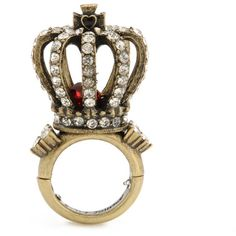 Large Crown Ring, Betsy Johnson    REMINDS ME OF SOME OF THE HATS AT WILLIAMS' WEDDING