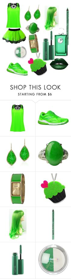 """💚💚💚💚💚"" by cassiefashion27 ❤ liked on Polyvore featuring Saucony, Anne Sisteron, Vernier, Sweet & Co., NYX, MAC Cosmetics and La Parfumerie Moderne"