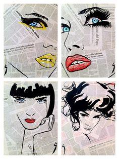 """Saatchi Online Artist: Conrad Jones; Paint 2013 Collage """"Fashion"""""""