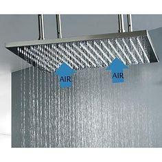 20-Zoll-ceil montiert Edelstahl 304 Niederschlagsmenge Badezimmer Duschkopf mit Lufteinspritzung Wassersparfunktion