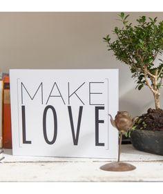 Make love - Cuadro pequeño, $69.900 COP.  Encuentra más cuadros con frases de amor en www.giferent.com/frases-de-amor