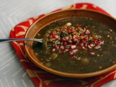 Persian Pomegranate soup (Ash e-anar)