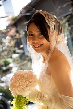 新郎新婦様からのメール 自分で作るブーケ、着物とドレスに 築地治作さまへ 花嫁様手作りのプリザーブドフラワーブーケ
