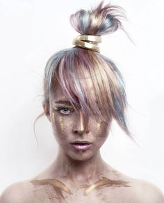 "Daryna Barykina Photography on Instagram: ""ATLANTIS. GOLDEN AGE. Continuation of my tribal series this time in gold. Golden paint - Mehron Makeup liquid gold ••• Haircolor: @ericakeelen_hair_love mua/hairstyle/model/photography: @daryna_barykina #btconeshot_makeup16 #mehronmakeup #mehron"""