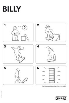 IKEA has the easiest instruction manuals ever.