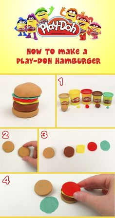Play-Doh hamburger