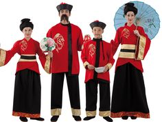 Disfraces de chinos y chinas para toda la familia Geisha Costume, Japanese Birthday, Asian Party, Chinese New Year, Girl Scouts, Christmas Sweaters, Halloween Costumes, Cos Play, Fashion