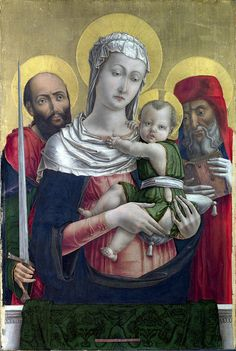 The Virgin and Child with Saints Paul and Jerome, 1460, Bartolomeo Vivarini