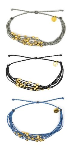 Pura Vida Bracelets - Gold Beaded Collection