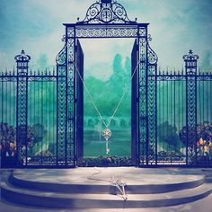 The new Tiffany windows on Fifth Avenue salute NYC's iconic Central Park. Love to have this wrought iron fence and gate surrounding MY garden!