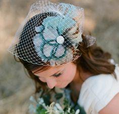 #Short #Birdcage #Bridal #Veil