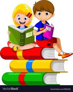 Children cartoon reading on the book vector image on VectorStock Reading Cartoon, Cartoon Kids, Kids Reading Books, Reading Skills, Toddler Learning Activities, Teaching Kids, School Forms, School Painting, Kids Room Wallpaper
