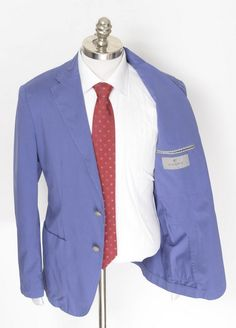 Preppy pastels make such a statement, like this Canali 1934 unconstructed cotton sport coat.  |  Find yours! http://www.frieschskys.com/blazers  |  #frieschskys #mensfashion #fashion #mensstyle #style #moda #menswear #dapper #stylish #MadeInItaly #Italy #couture #highfashion #designer #shopping