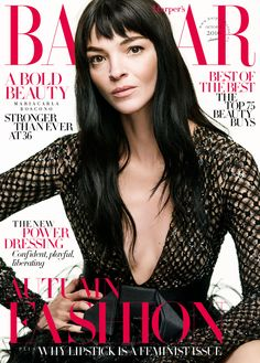 Mariacarla Boscono stars on the October issue cover
