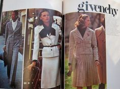 Vogue Patterns magazine, Autumn-Winter 1973 featuring Vogue Paris Original 2922, 2923 and 2920 by Givenchy