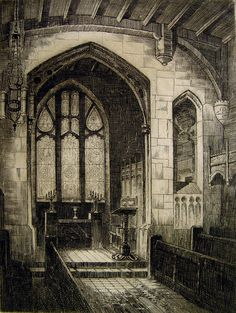 Chapel of The Holy Grail Etching