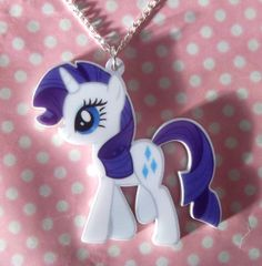 Cute My Little Pony Friendship Is Magic Rarity necklace on Etsy, My Little Pony Rarity, Little Pony Party, Mlp Rarity, Tattoo Choker, Laser Cut Acrylic, My Little Pony Friendship, Twilight Sparkle, My Baby Girl, Kids Christmas