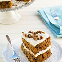 Loaded Carrot Cake with Cream Cheese Frosting by TasteBook.com