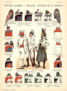 Королевство Испания Союзные войска. Uniformes de I'Armee Francaise 1690-1894 Lienhart & Humbert