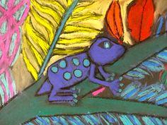 Chalk Rainforest Animals Art Video | Deep Space Sparkle