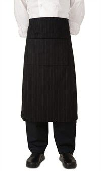 Chef Premium Bistro Apron - Black Stripe Style #  4100BST #chefuniforms #culinary #chefcoats #cooking #apron