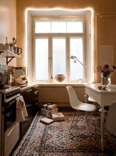 I want a stylish kitchen like this.