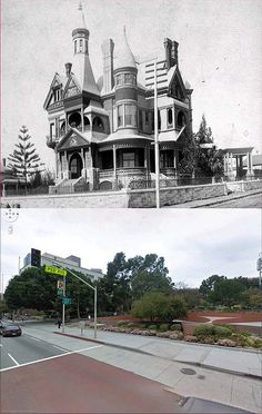 los angeles then and now using google street view