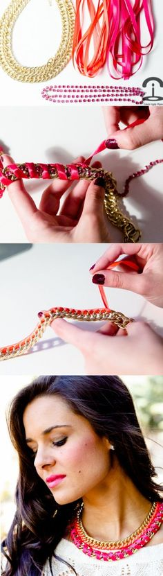 DIY: Fluoro necklace easy to do