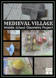By far one of my students' favorite projects all year...geometry + problem solving + scale + creative thinking.  Love this project to build a medieval village.