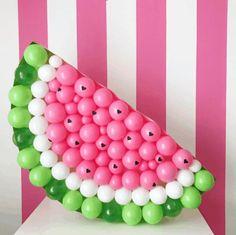 Watermelon Decorations + Party Ideas | Mimi's Dollhouse Baby Shower Watermelon, Watermelon Birthday Parties, Watermelon Decor, Fruit Birthday, Fruit Party, 1st Birthday Parties, Birthday Party Decorations, Girl Birthday, Watermelon Party Decorations
